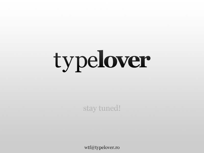 Typelover - Coming soon.